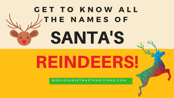 complete list of names of santa's reindeers
