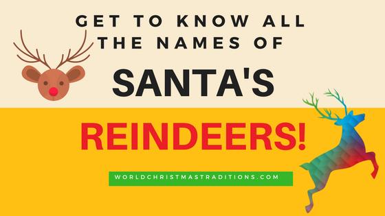 complete list of names of santa's reindeers