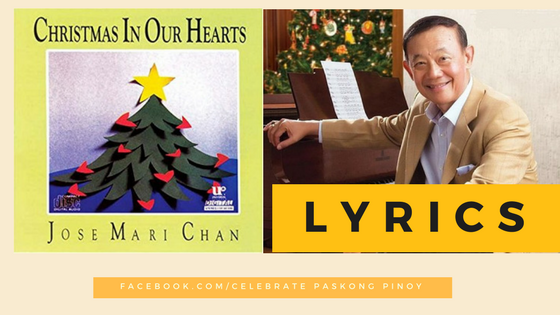 lyrics christmas in our hearts jose mari chan