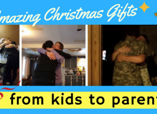 kids christmas gifts surprise to parents
